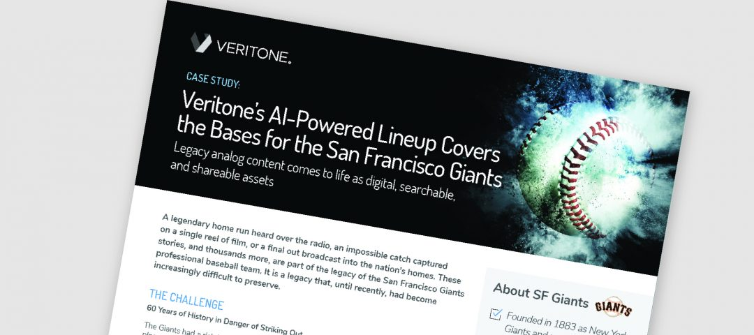 Veritone's AI-Powered Lineup Covers the Bases for the San Francisco Giants